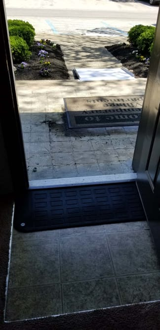Rubber Threshold Ramp for doors at EJ Medical Supply