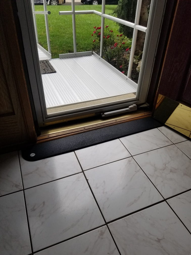 Tapered Edges Rubber Threshold Ramp at EJ Medical Supply