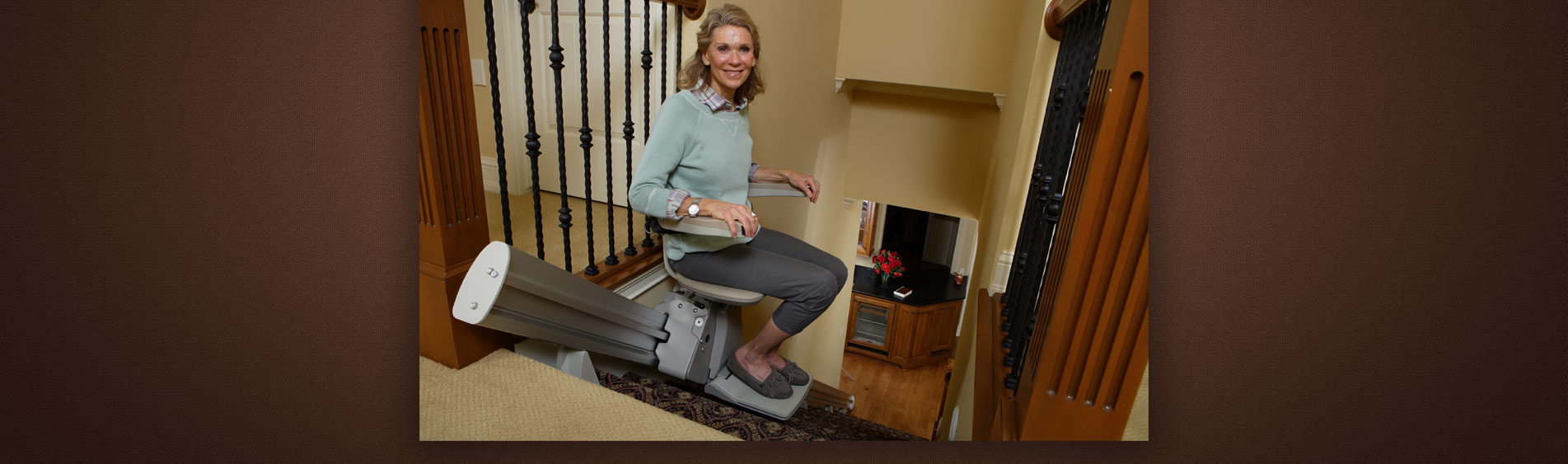 Woman on Bruno Stairlifts