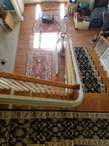 Top View of Stairlift in a House
