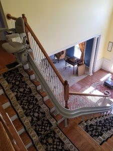 Top View of Stairlift by EJ Medical Supply