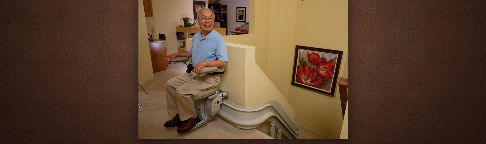 Elderly Man on Stairlifts