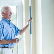 Elderly Man Using SuperPole System
